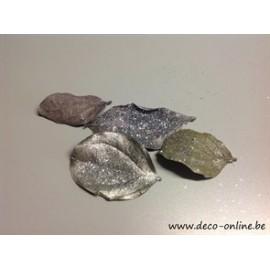 QUINA BLAD PLATINUM GLITTER ZILVER +/-15GR