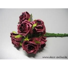 FOAM ROSE (ROSE EN MOUSSE) ELEGANT 5CM BORDEAUX 8PCS