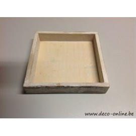 COUPE EN BOIS 26X26CM WHITE WASH 864/168