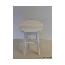 TABLE ROND H43CM D28CM BLANC