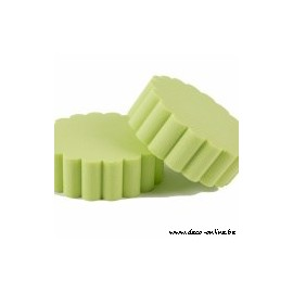 OASIS RAINBOW FOAM FLUTED CAKE LIME GREEN 15CM 2ST