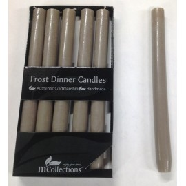 BOUGIE FROST TAUPE 6PCS D2.5 H25