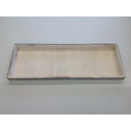 HOUTEN BAKJE 45X16CM WHITE WASH 864/166