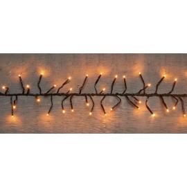 LED VERLICHTING (BINNEN & BUITEN) CLUSTER 960L/12.5M CLASSIC WHITE 10M AANLOOPSNOER IP44 24V/3VA TRAFO GROEN SNOER