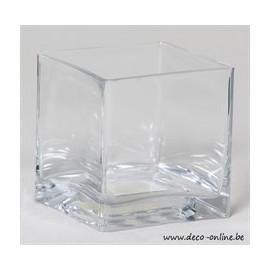 GLAS ACCUBAK TRANSPARANT 10X10X10CM 1ST